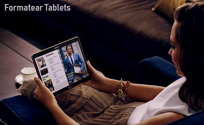 Como formatear una tablet
