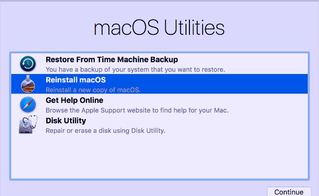 Como reiniciar un MAC