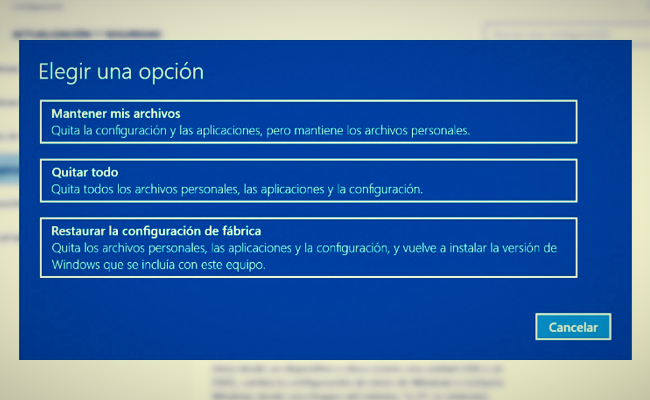 Windows 10 restaurar sistema