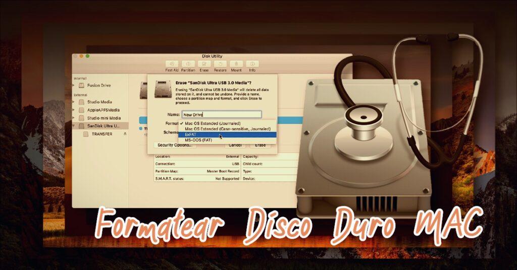 formatear disco duro MAC