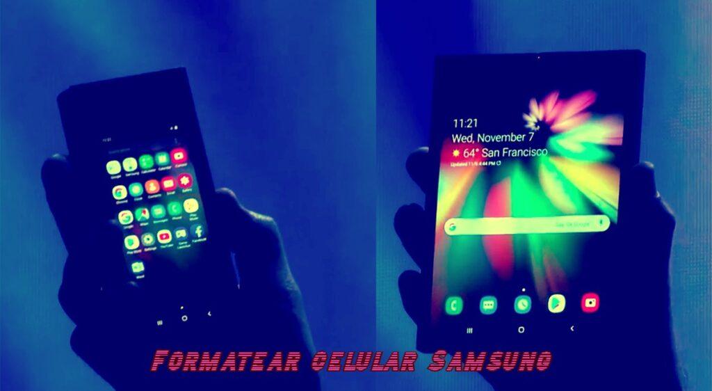formatear celular samsung