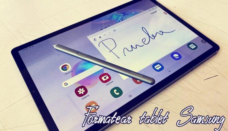 formatear tablet samsung