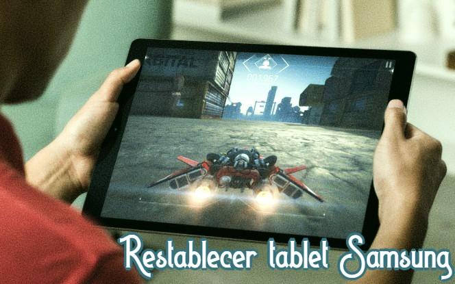 restablecer tablet Samsung
